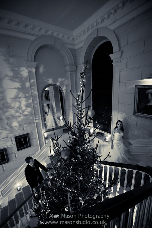 eshott hall christmas wedding