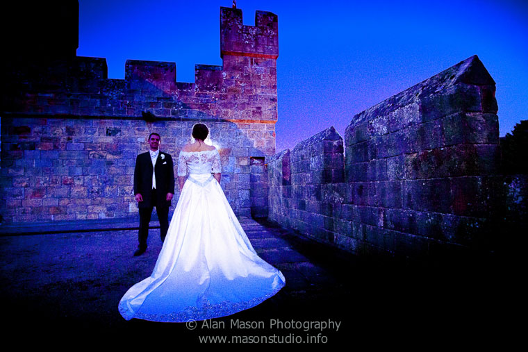 langley castle wedding photograph