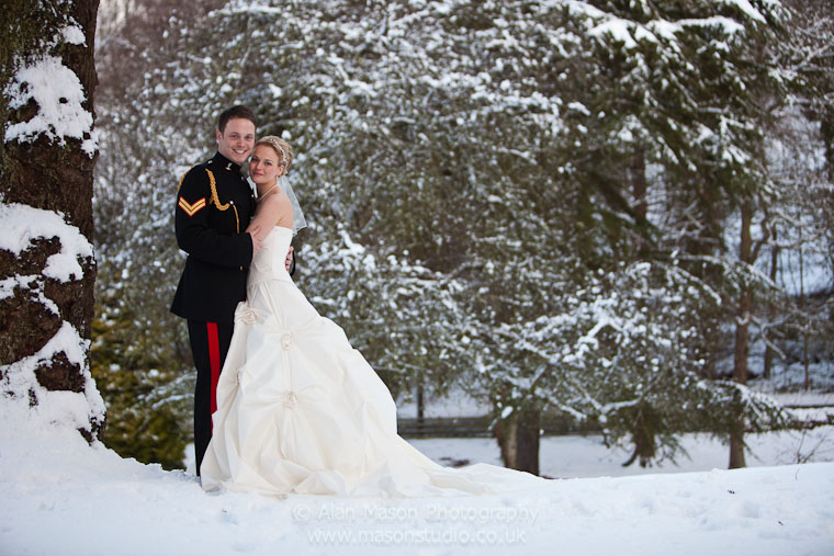 langley castle winter wedding prices photography