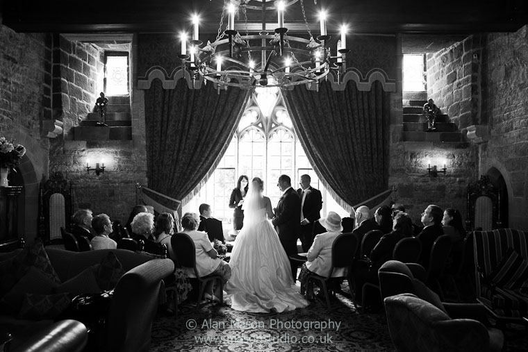 langley castle wedding picture