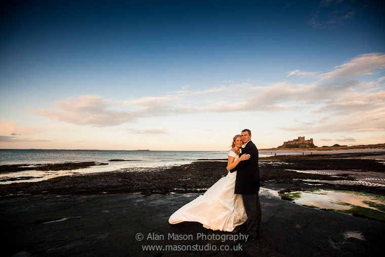 bamburgh castle wedding picture