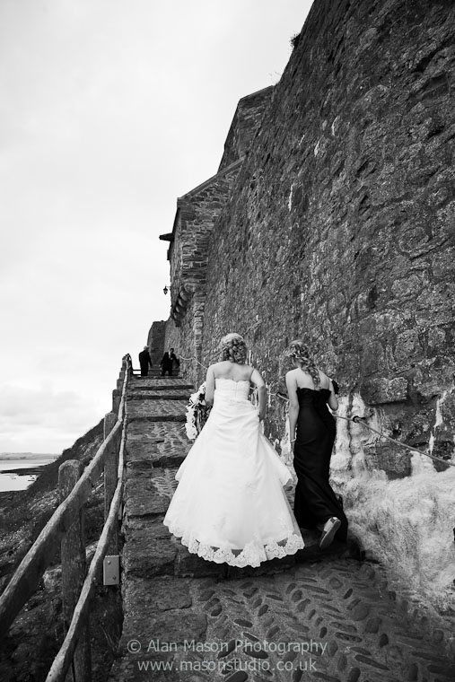 holy island wedding picture