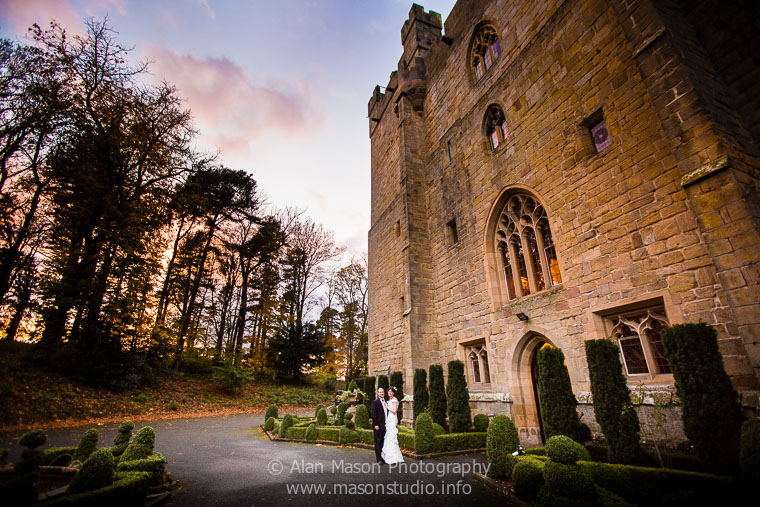 langley castle wedding