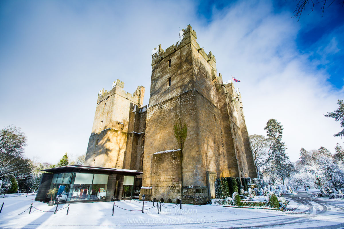 langley castle winter wedding