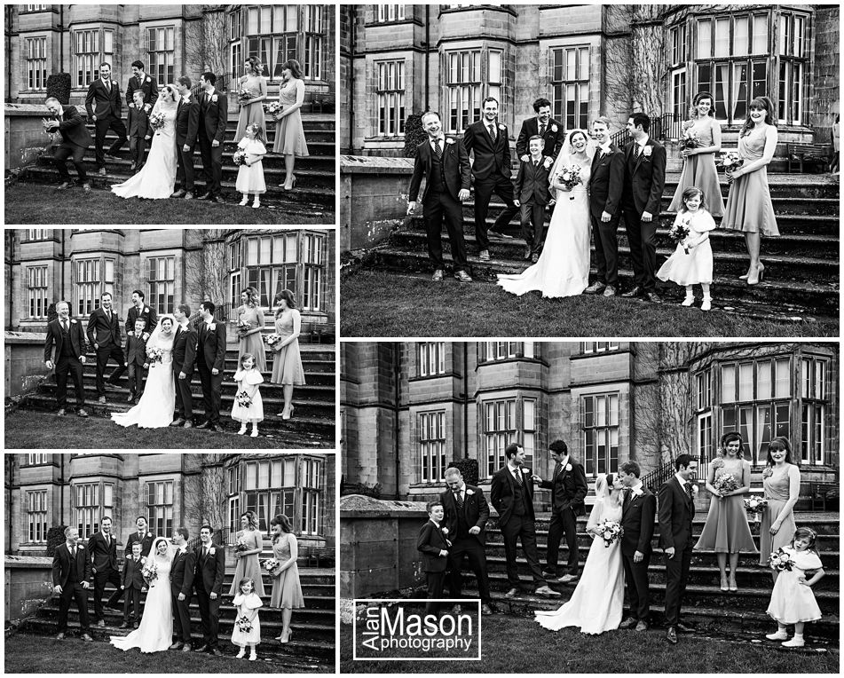 wedding party at matfen hall