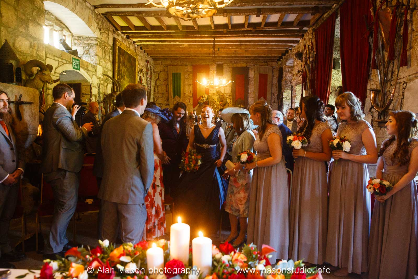 chillingham castle wedding ceremony