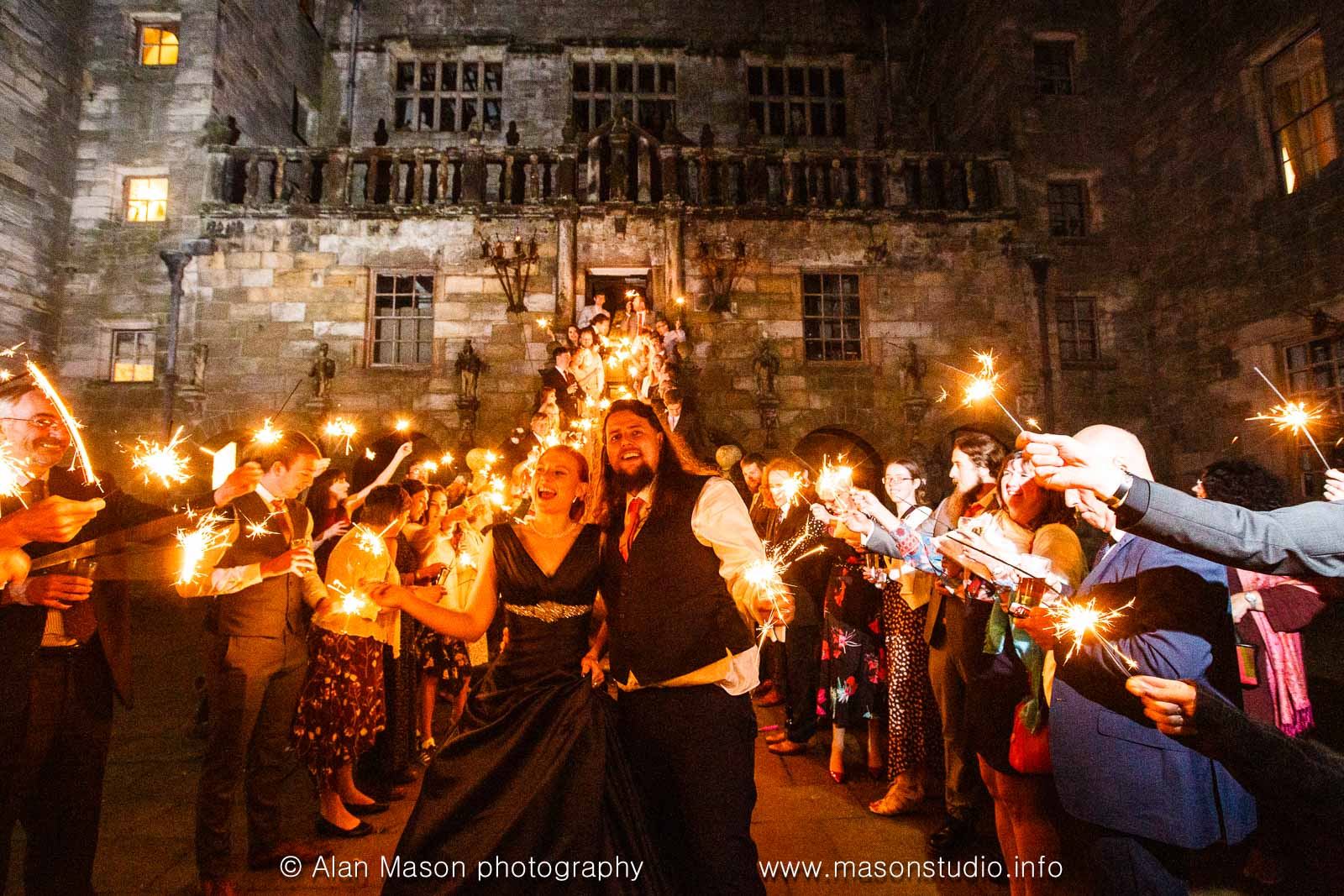 chillingham castle wedding picture